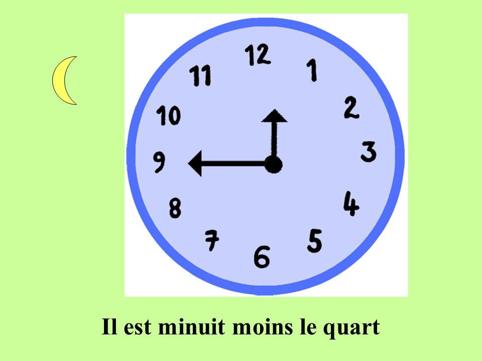 Il est minuit moins le quart