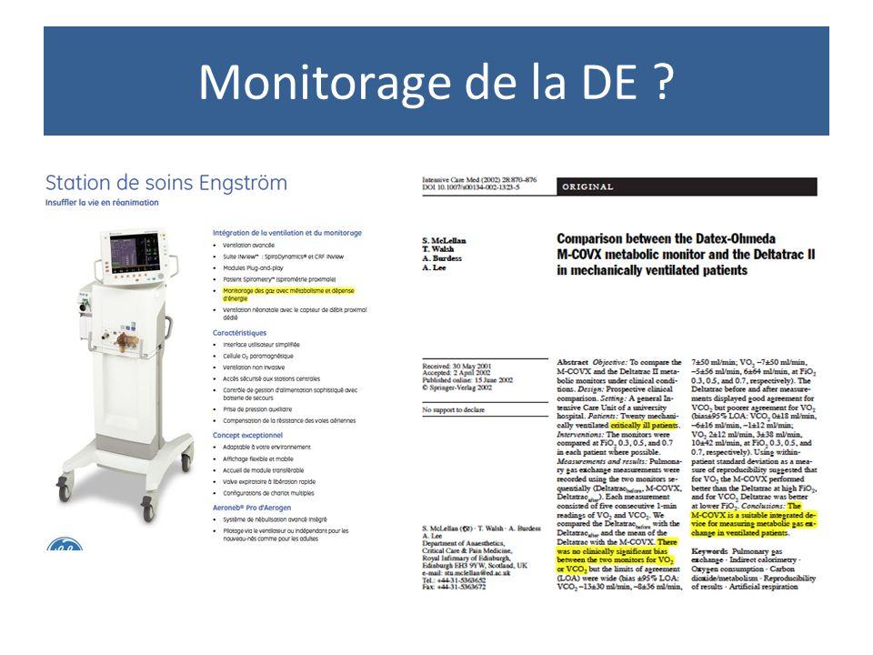 Monitorage de la DE entre baisse de la mortalité