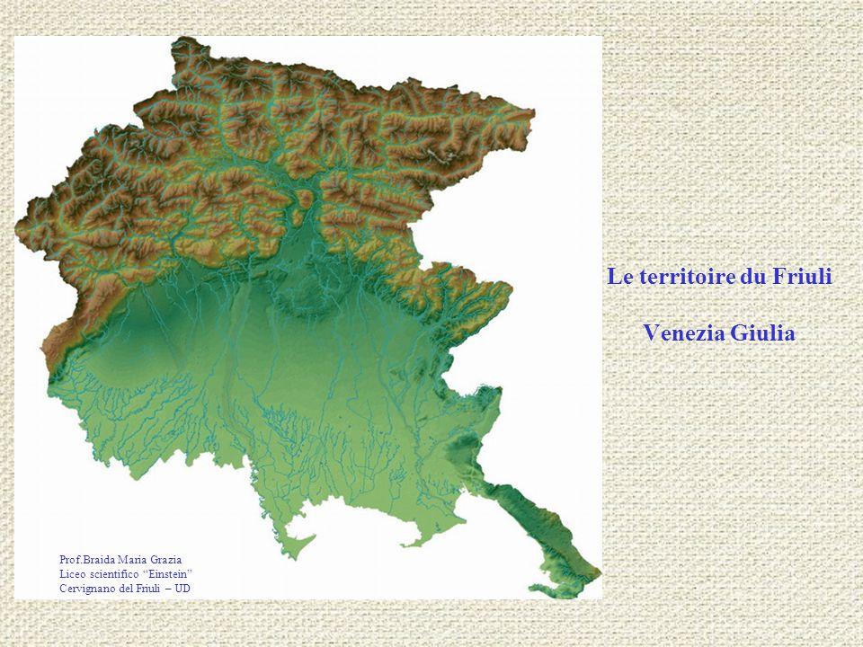 Le territoire du Friuli Venezia Giulia