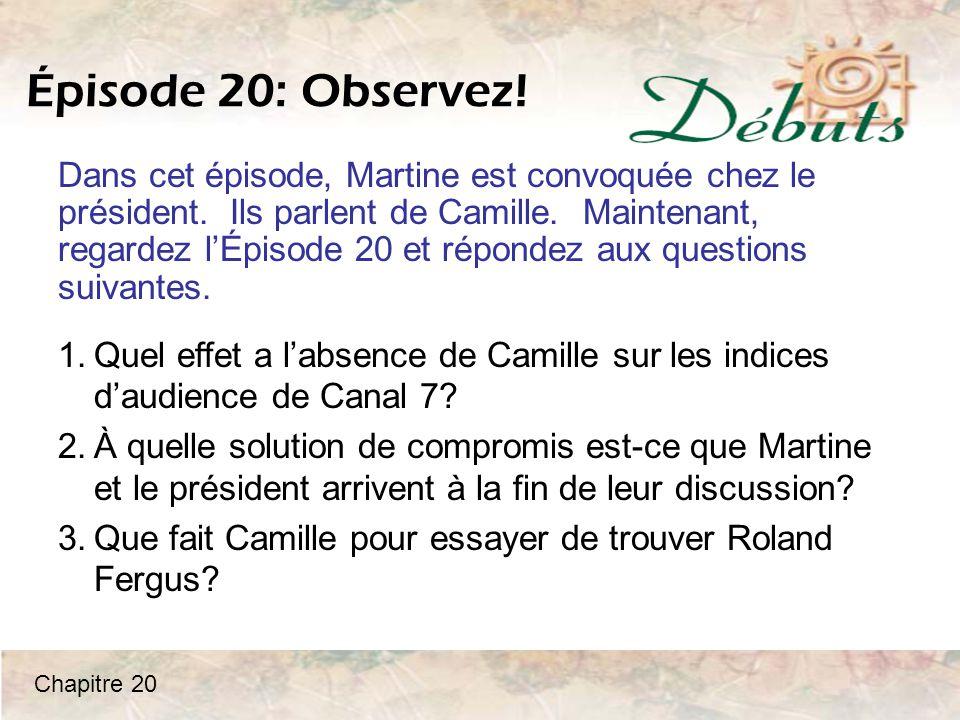 Épisode 20: Observez!