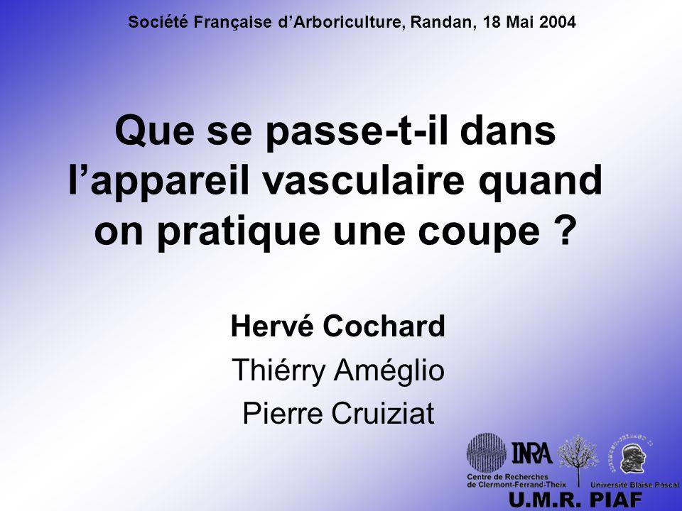 Hervé Cochard Thiérry Améglio Pierre Cruiziat