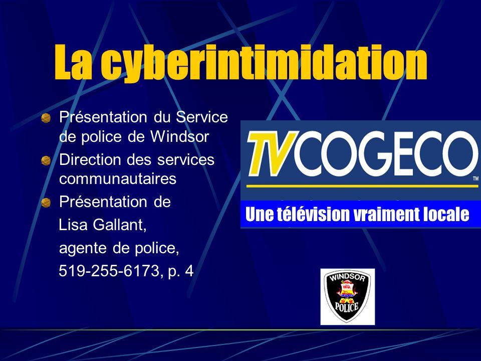 La cyberintimidation Une télévision vraiment locale