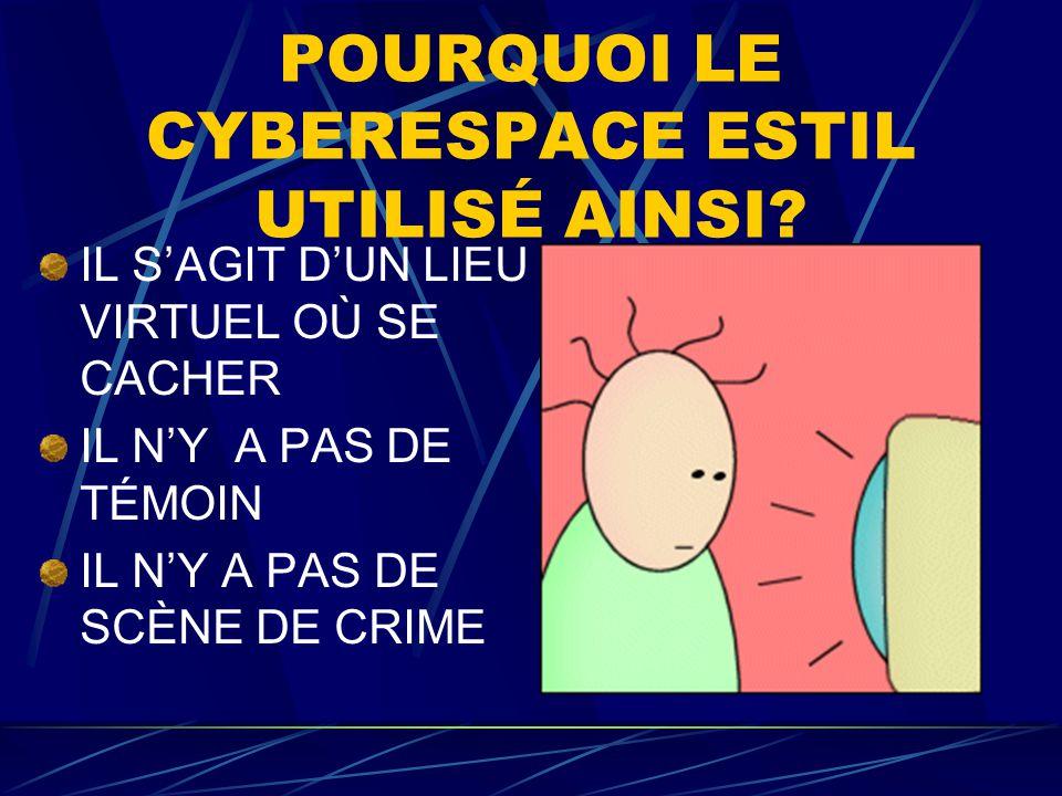 POURQUOI LE CYBERESPACE ESTIL UTILISÉ AINSI