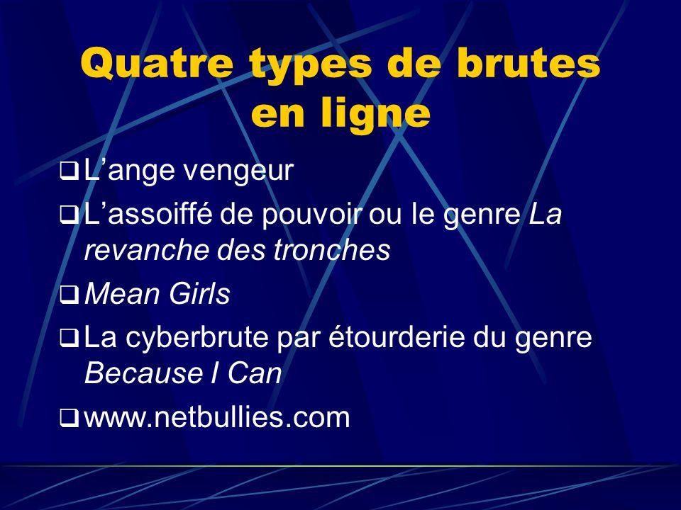 Quatre types de brutes en ligne