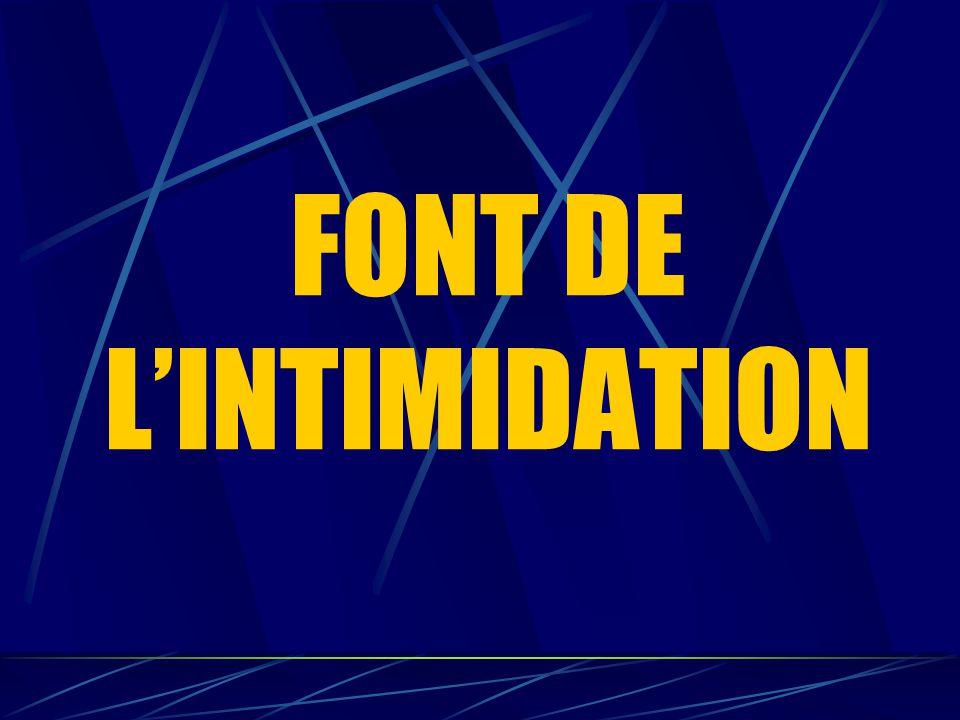 FONT DE L'INTIMIDATION