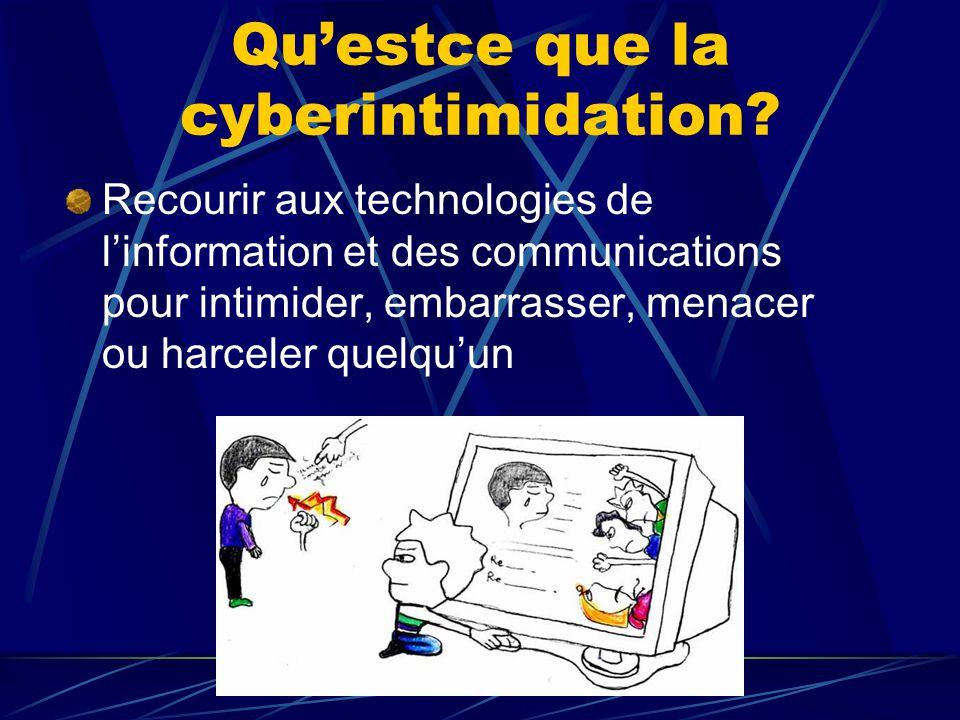 Qu'estce que la cyberintimidation