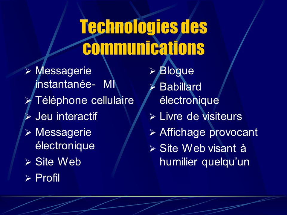 Technologies des communications