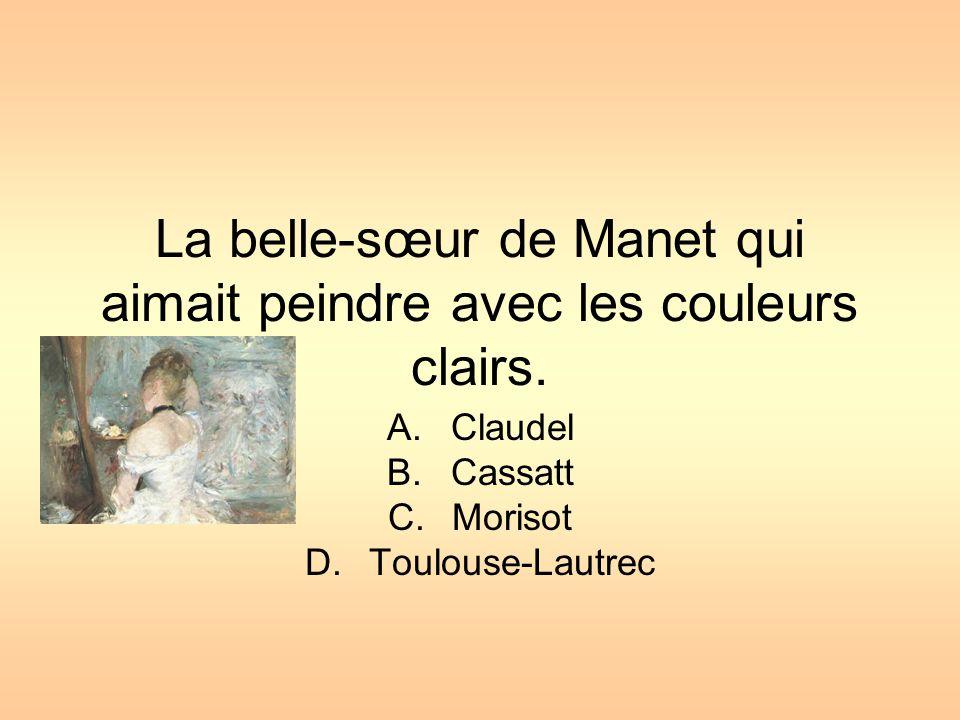 La belle-sœur de Manet qui aimait peindre avec les couleurs clairs.
