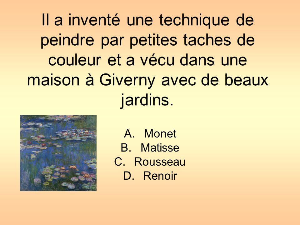 Monet Matisse Rousseau Renoir