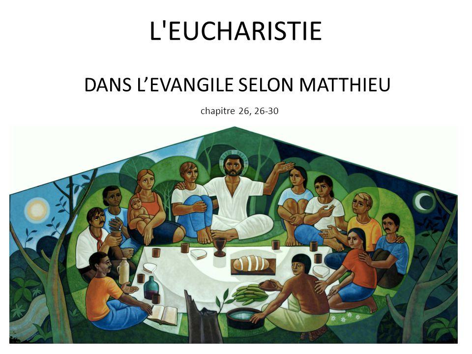 DANS L'EVANGILE SELON MATTHIEU chapitre 26, 26-30