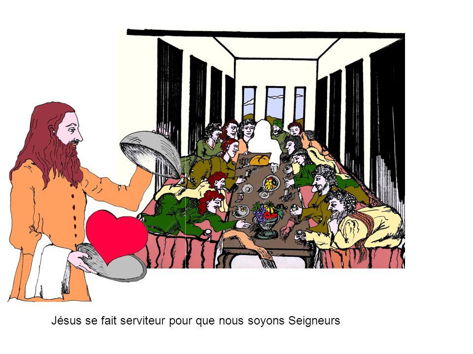 Jésus se fait serviteur pour que nous soyons Seigneurs