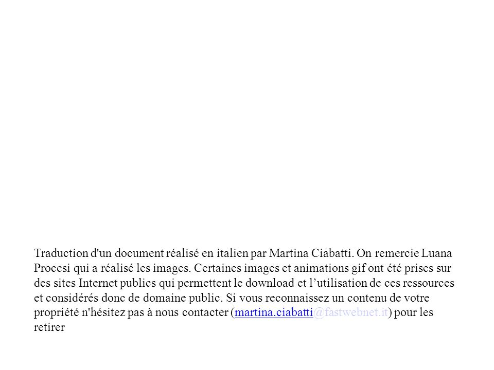 Traduction d un document réalisé en italien par Martina Ciabatti