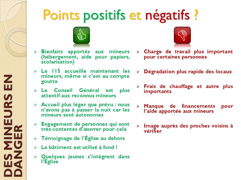 Points positifs et négatifs