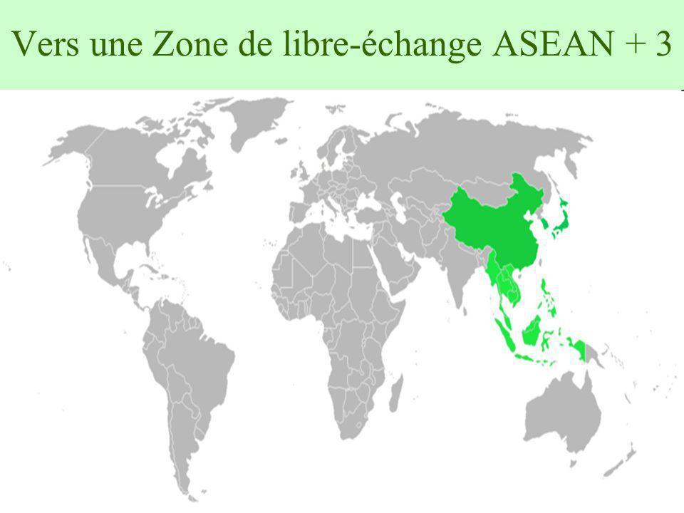 Vers une Zone de libre-échange ASEAN + 3