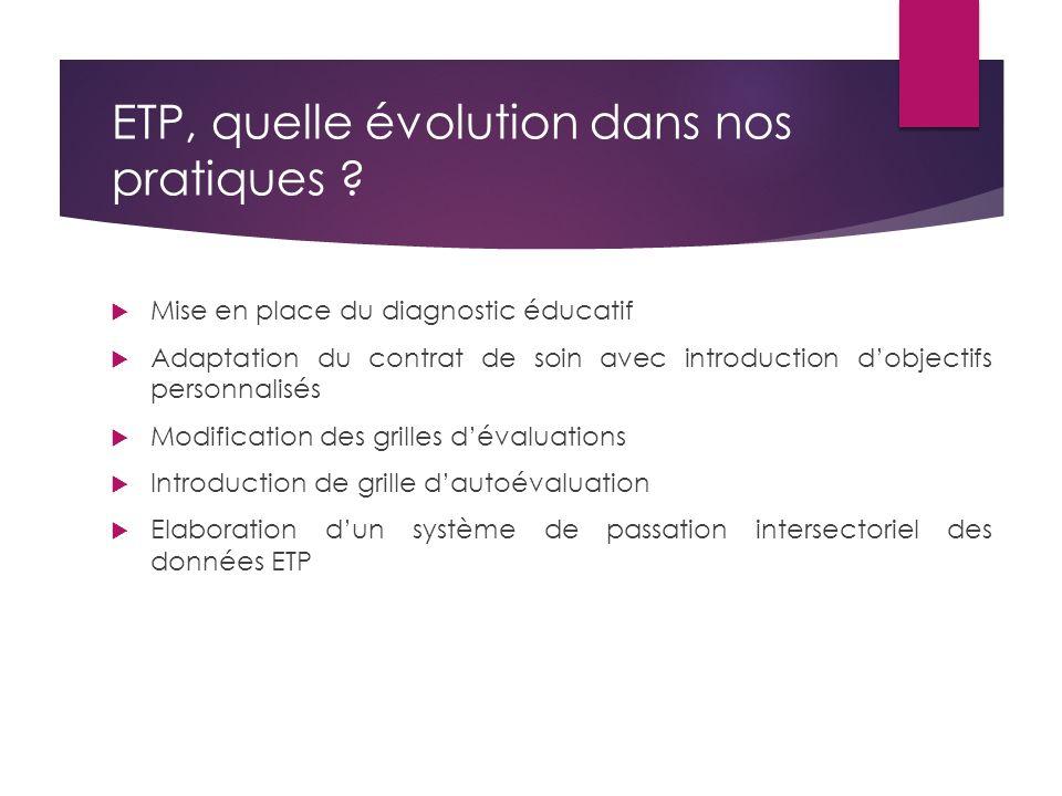 ETP, quelle évolution dans nos pratiques