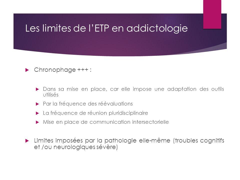 Les limites de l'ETP en addictologie