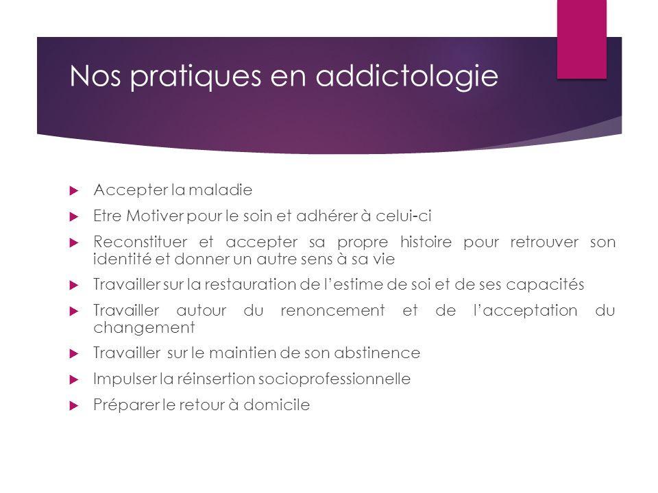 Nos pratiques en addictologie