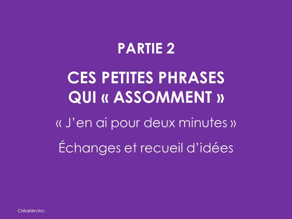 PARTIE 2 CES PETITES PHRASES QUI « ASSOMMENT »