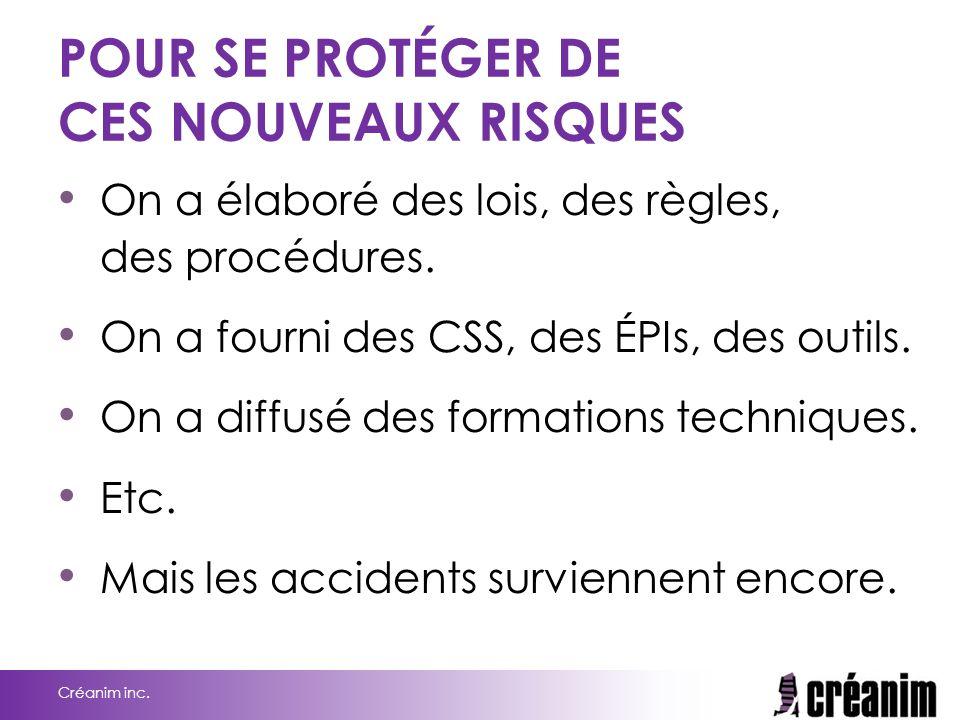 POUR SE PROTÉGER DE CES NOUVEAUX RISQUES