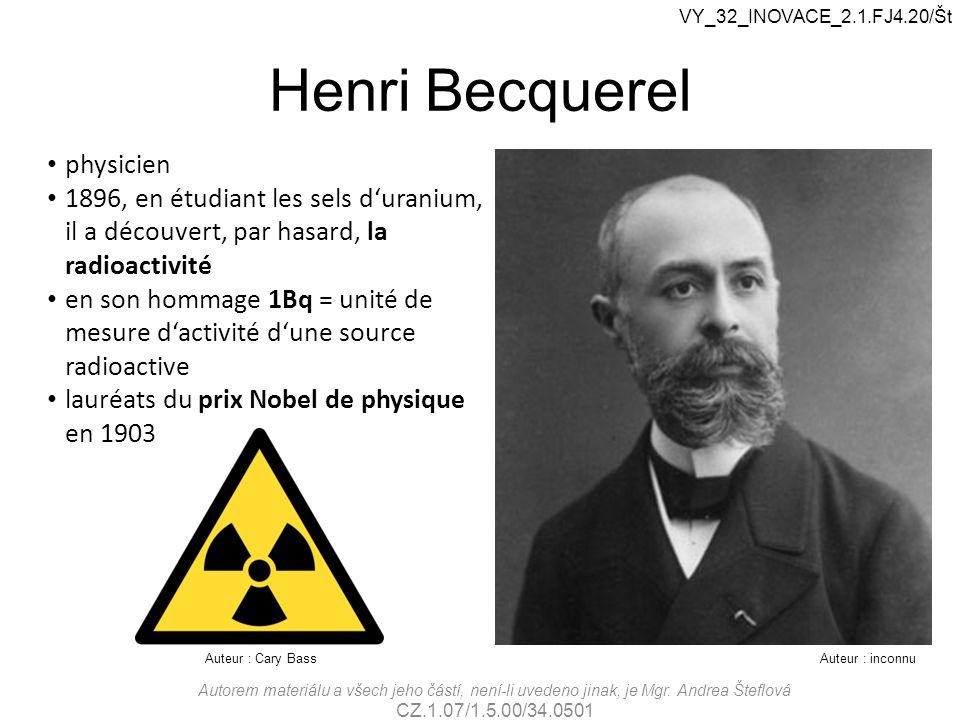 Henri Becquerel physicien