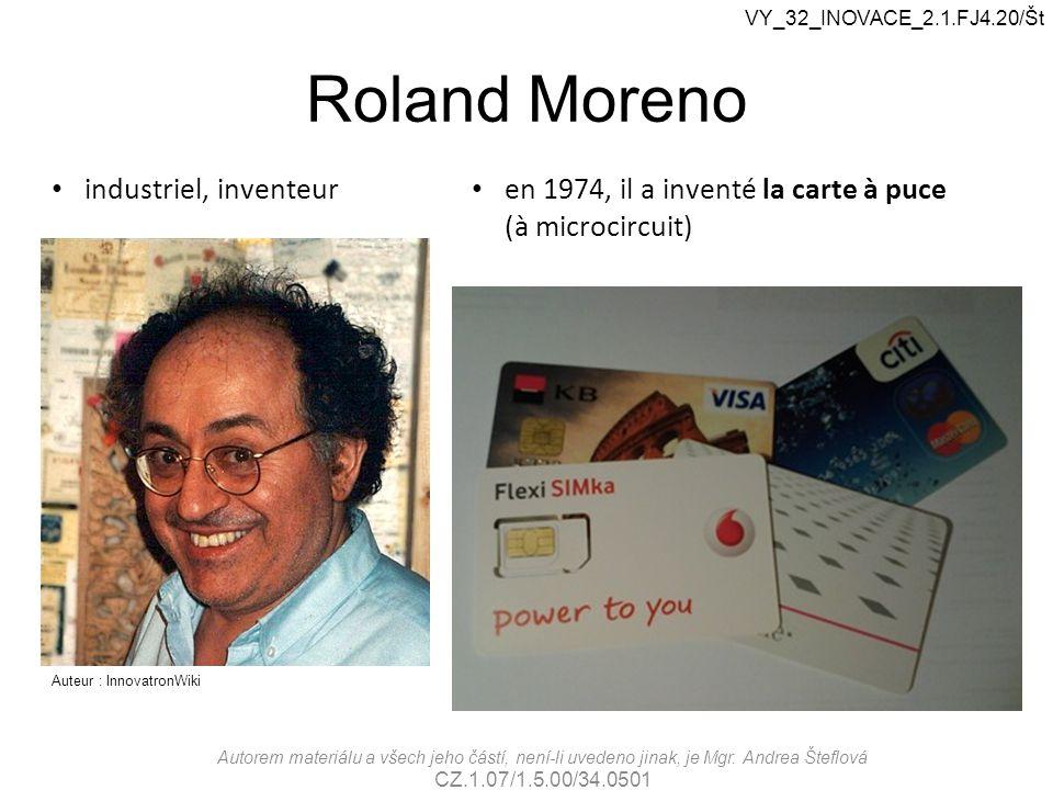 Roland Moreno industriel, inventeur