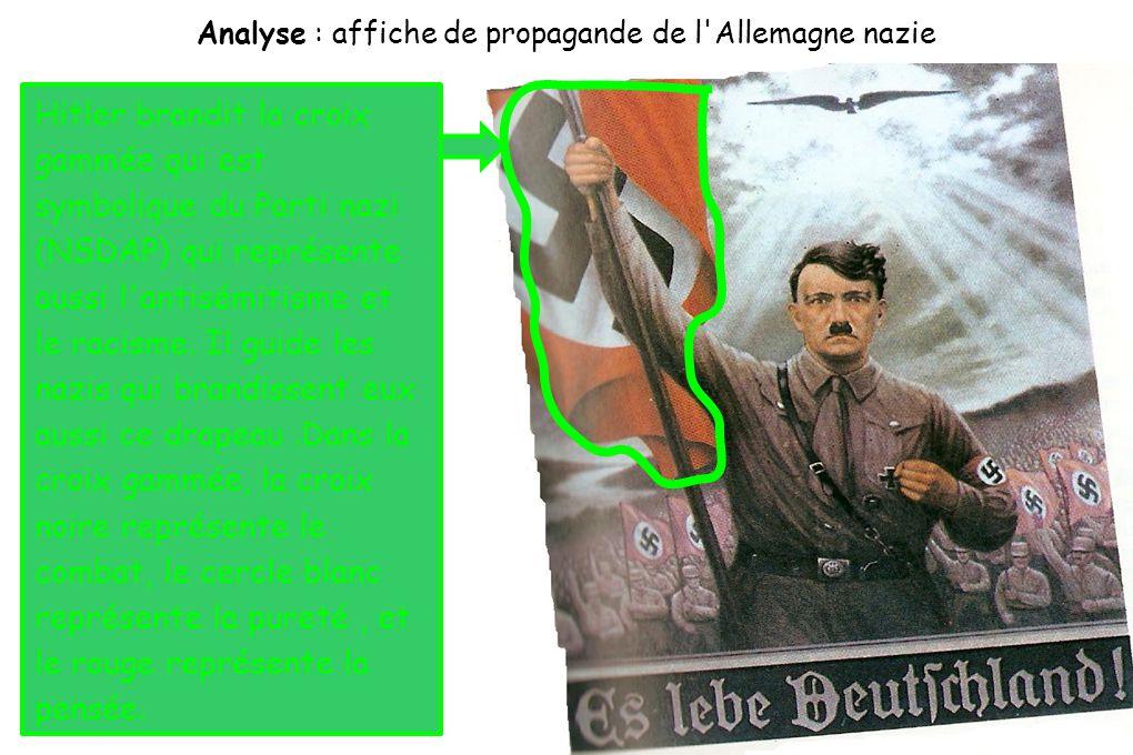 Analyse : affiche de propagande de l Allemagne nazie