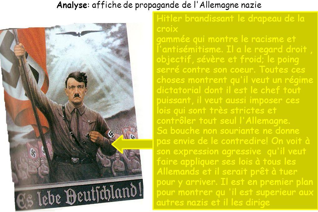 Analyse: affiche de propagande de l Allemagne nazie