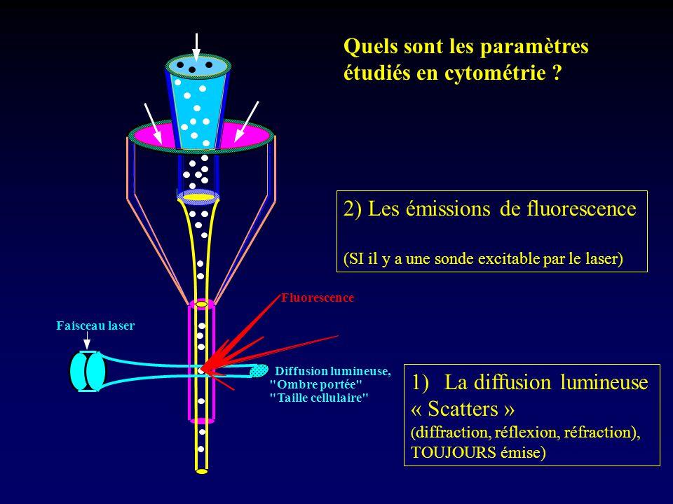Quels sont les paramètres étudiés en cytométrie
