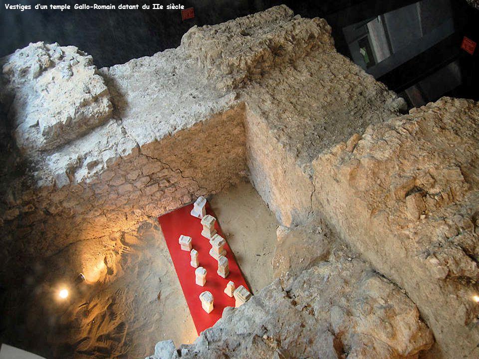 Vestiges d'un temple Gallo-Romain datant du IIe siècle