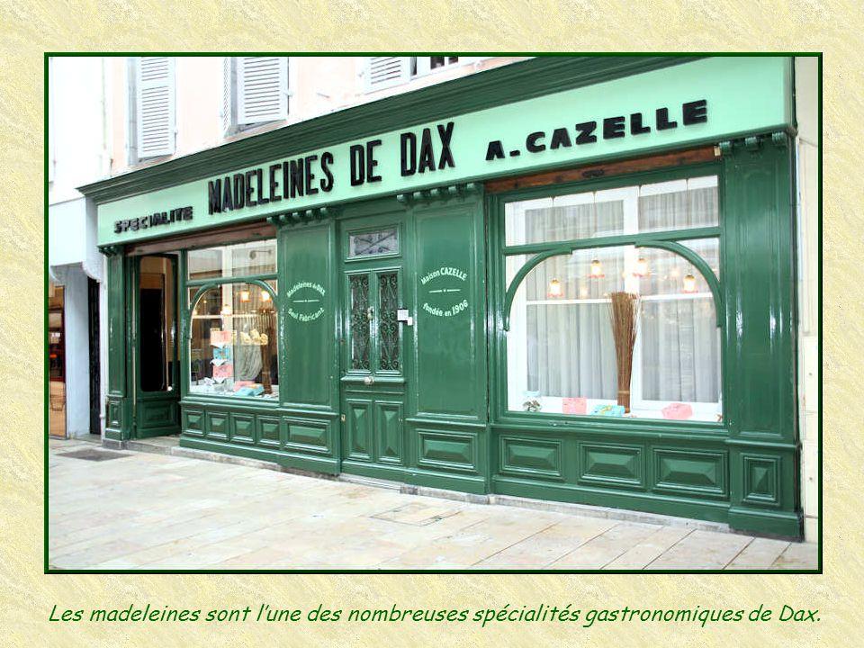 Les madeleines sont l'une des nombreuses spécialités gastronomiques de Dax.