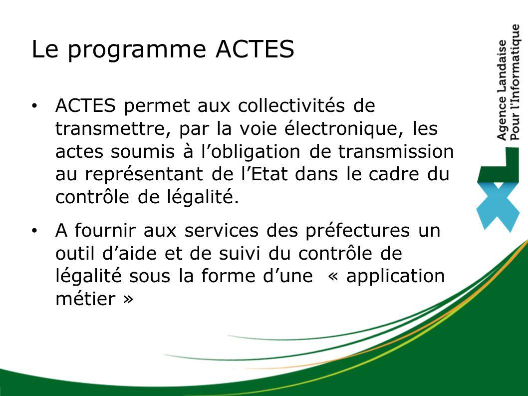 Le programme ACTES