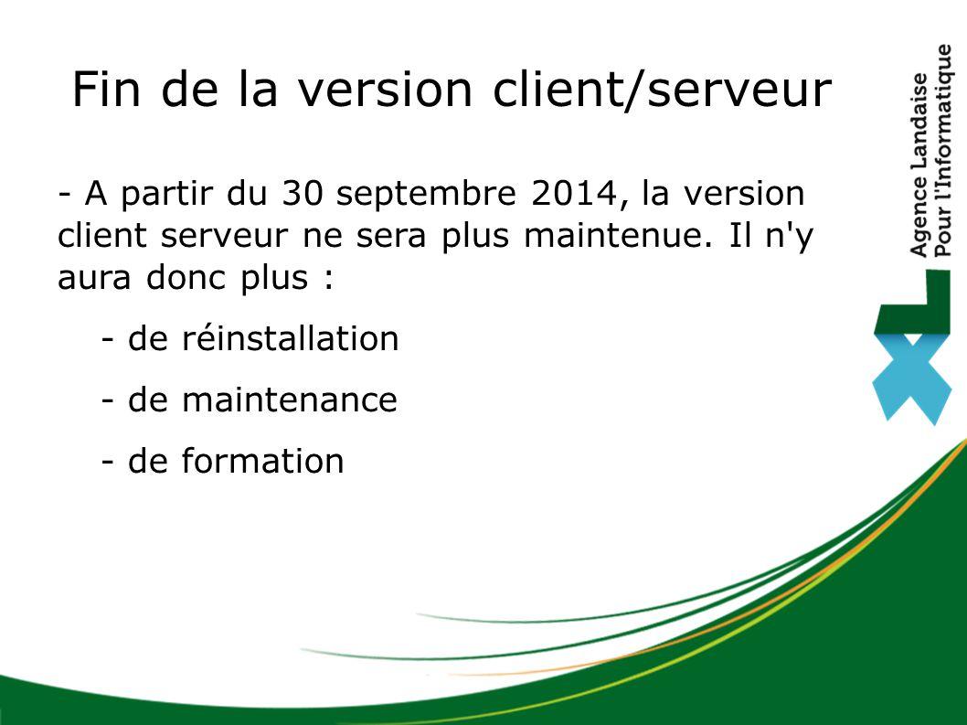 Fin de la version client/serveur