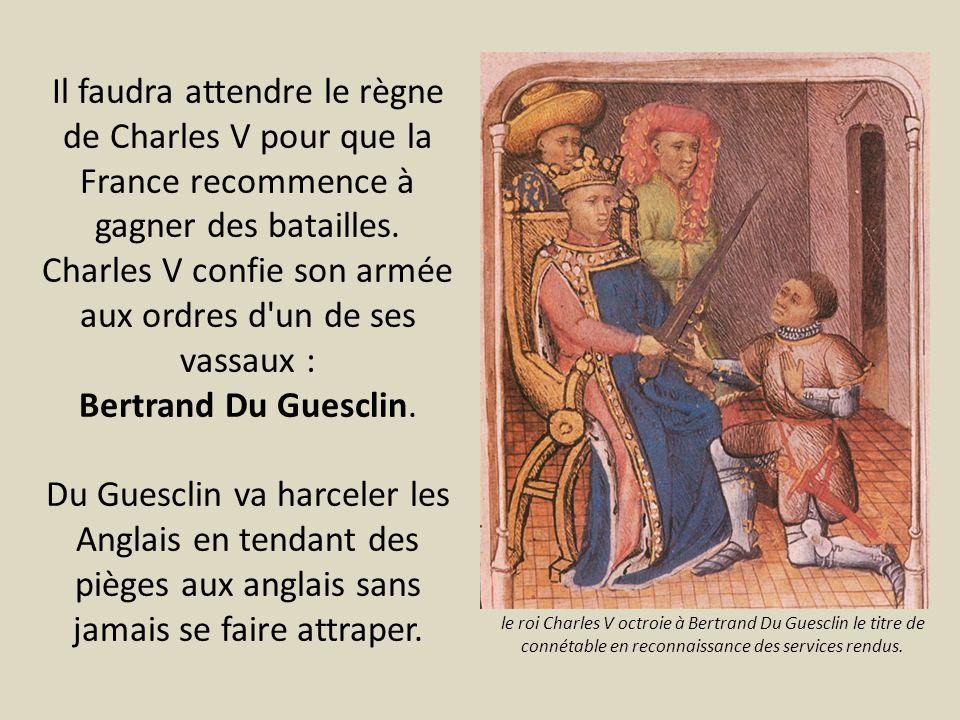 Charles V confie son armée aux ordres d un de ses vassaux :