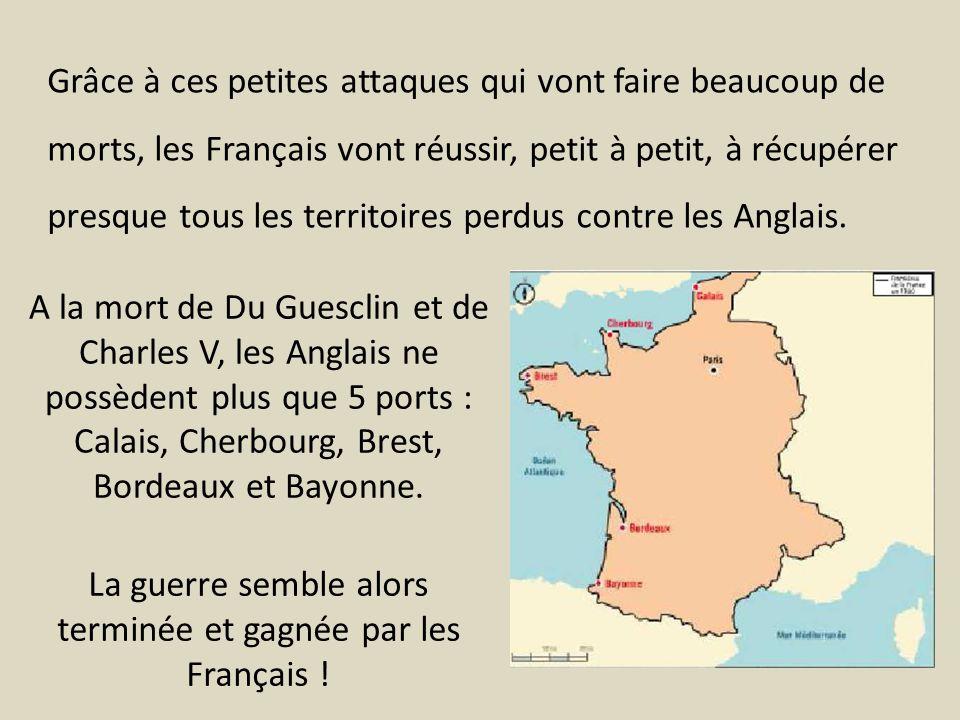 Calais, Cherbourg, Brest, Bordeaux et Bayonne.