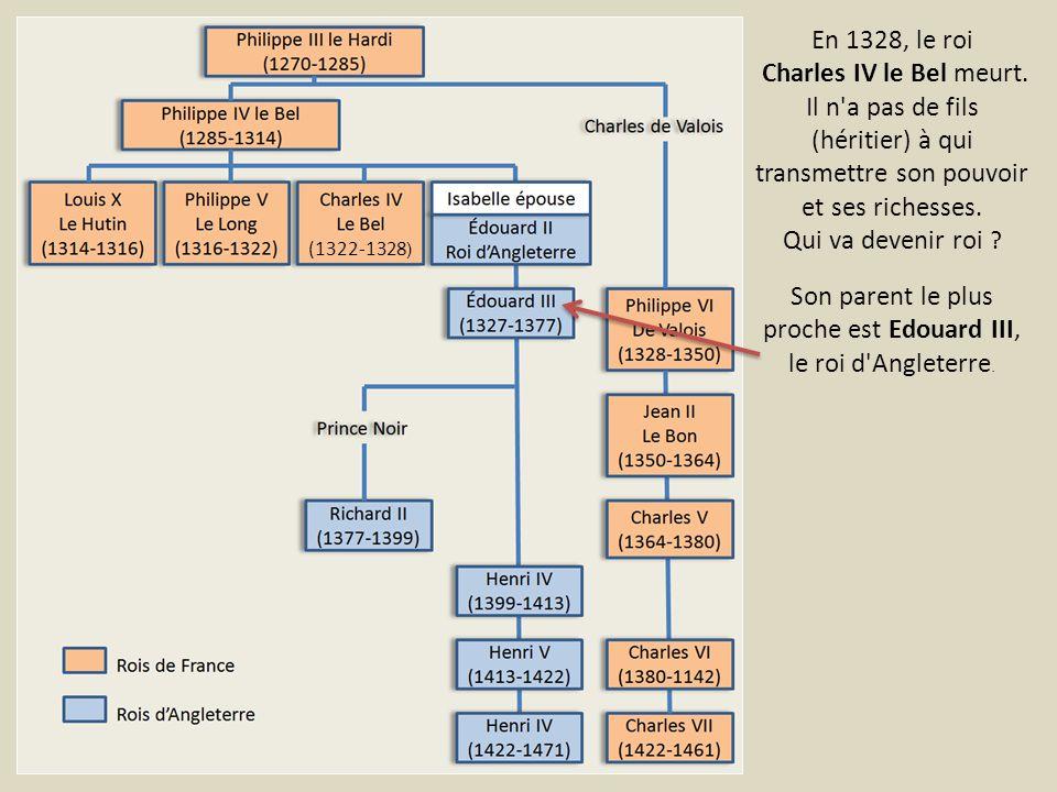 Son parent le plus proche est Edouard III, le roi d Angleterre.