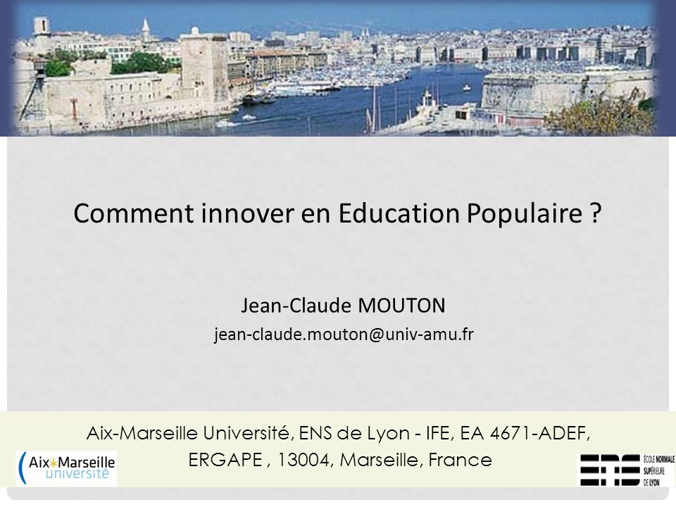 Comment innover en Education Populaire
