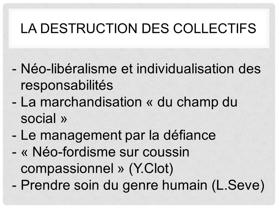 La destruction des collectifs