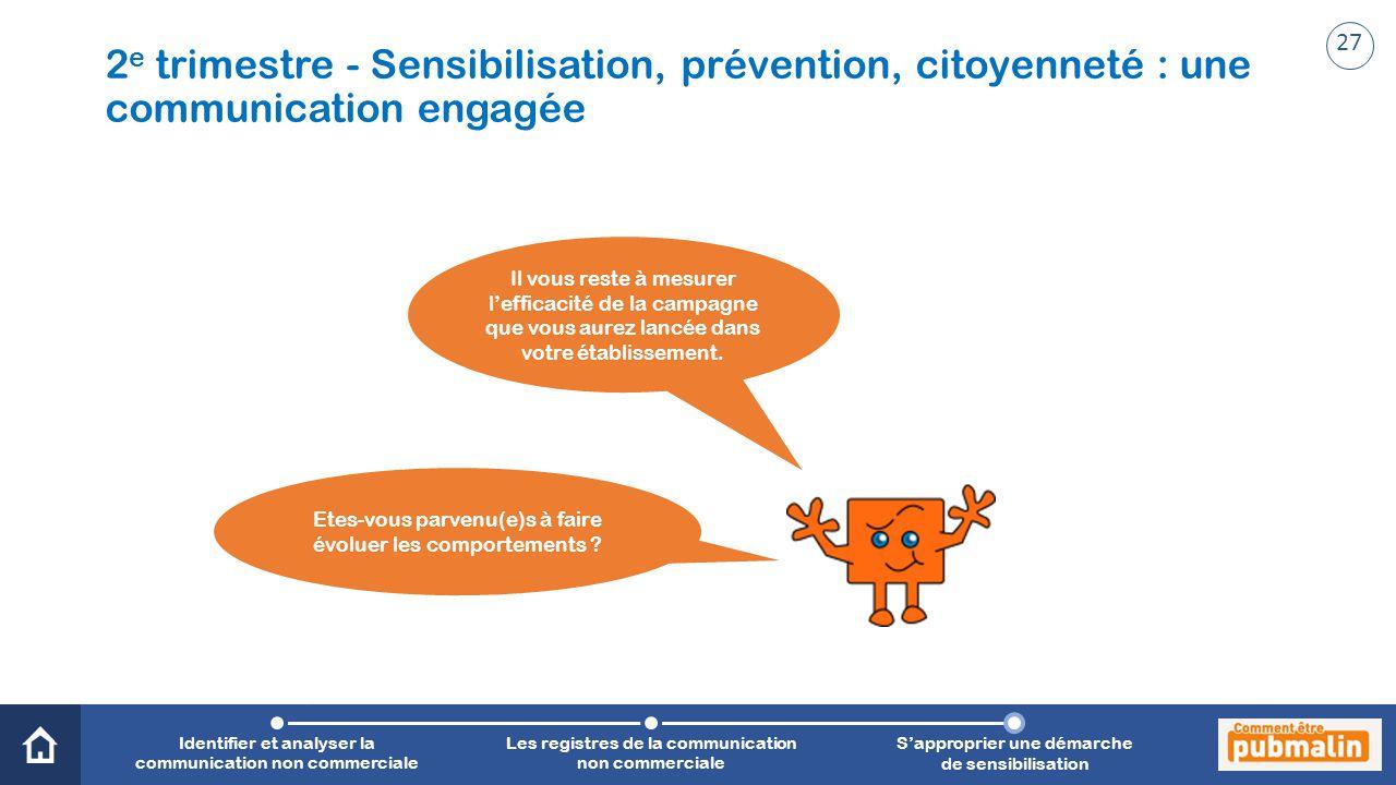 2e trimestre - Sensibilisation, prévention, citoyenneté : une communication engagée