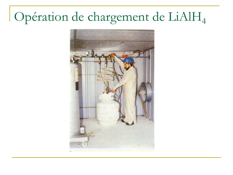 Opération de chargement de LiAlH4