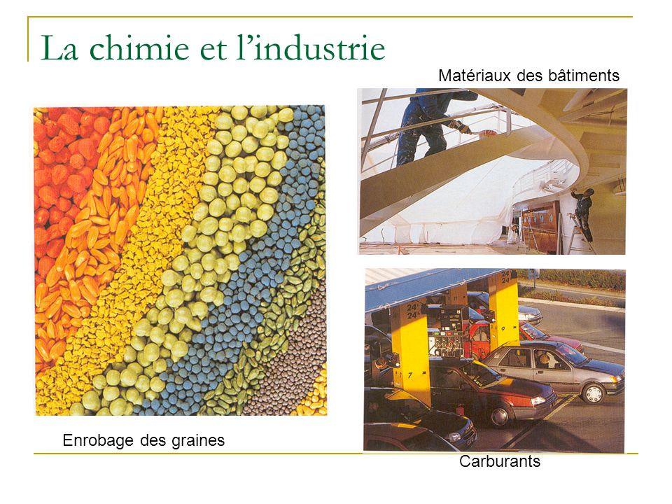La chimie et l'industrie