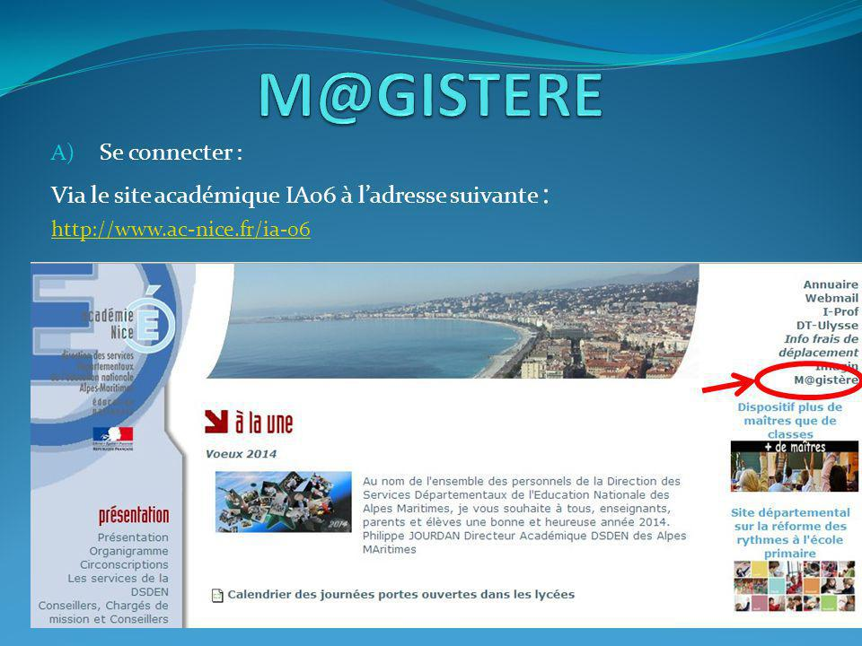 M@GISTERE Se connecter :