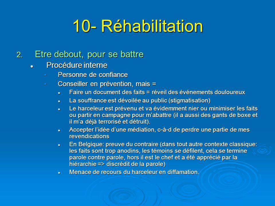 10- Réhabilitation Etre debout, pour se battre Procédure interne