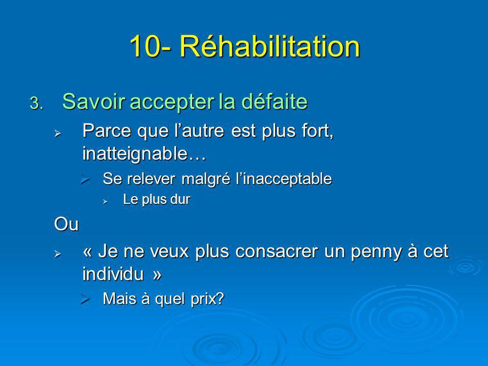 10- Réhabilitation Savoir accepter la défaite