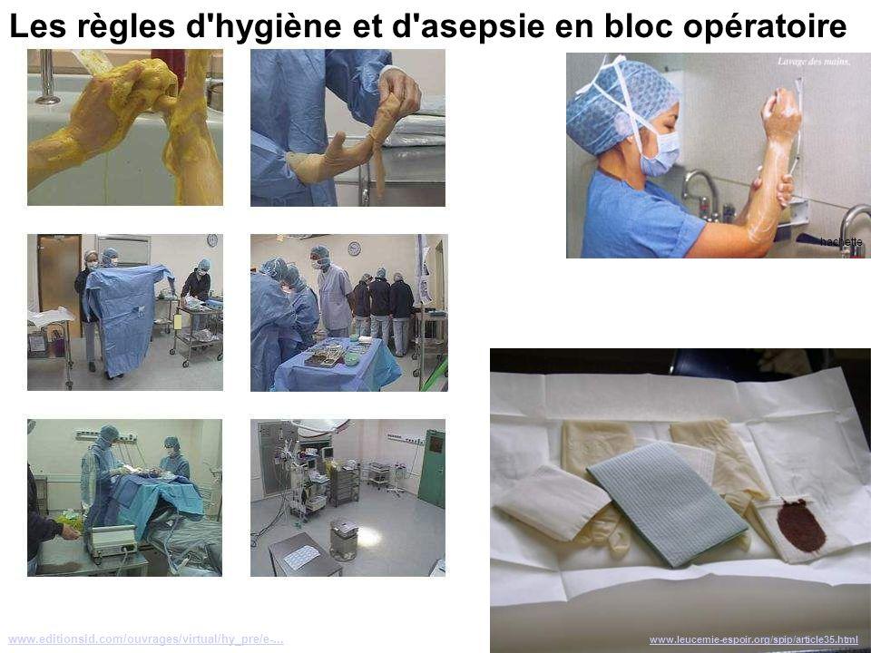 Les règles d hygiène et d asepsie en bloc opératoire