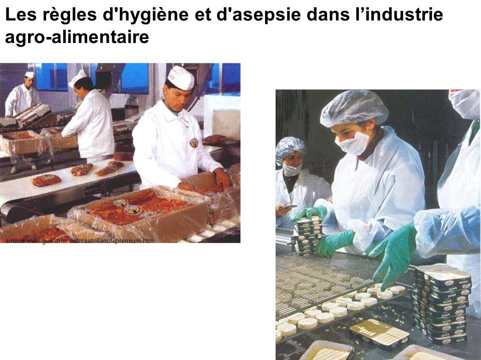Les règles d hygiène et d asepsie dans l'industrie agro-alimentaire