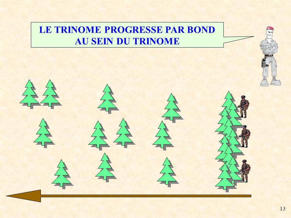 LE TRINOME PROGRESSE PAR BOND AU SEIN DU TRINOME