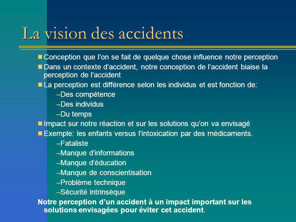 La vision des accidents