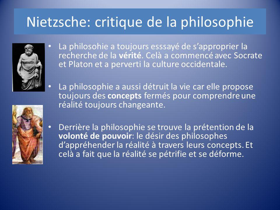 Nietzsche: critique de la philosophie