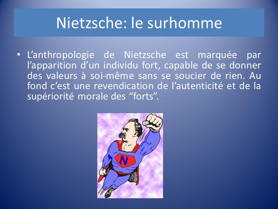 Nietzsche: le surhomme