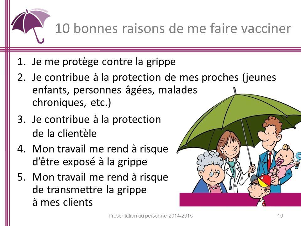 10 bonnes raisons de me faire vacciner